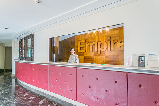 Empire budget apartments : Reception.